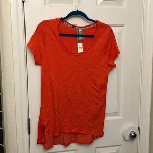 Anthropologie orange tee shirt